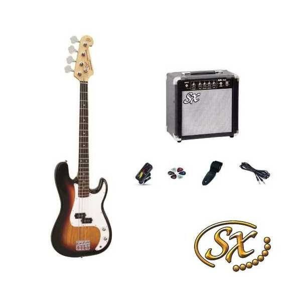 SX P Bass Kit 3 Tone Sunburst