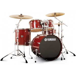 Yamaha Stage Custom Birch Fusion Drum Kit w-Hardware - Cranberry Red