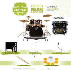 Mapex Prodigy Deluxe Bundle Pack Black Yellow