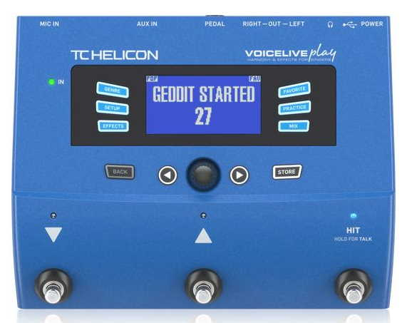 TC Helicon Voicelive Play Guitar Vocal Pedal