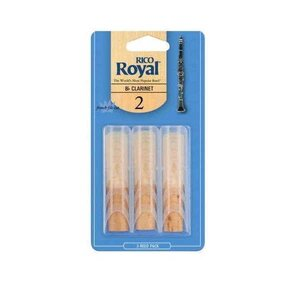 Royal Bb Clarinet Reeds 3 Pack Size 2.0